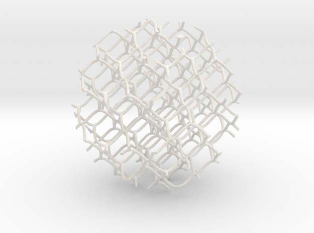 Spheremesh 82cm in White Natural Versatile Plastic