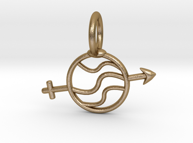 Gender Fluid Small in Polished Gold Steel