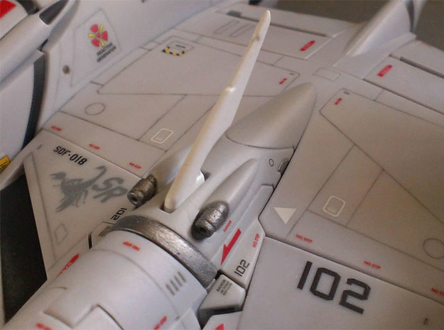 VF-4C/G/K Custom Head Unit 3d printed Painted + decals applied - fits in fighter mode.