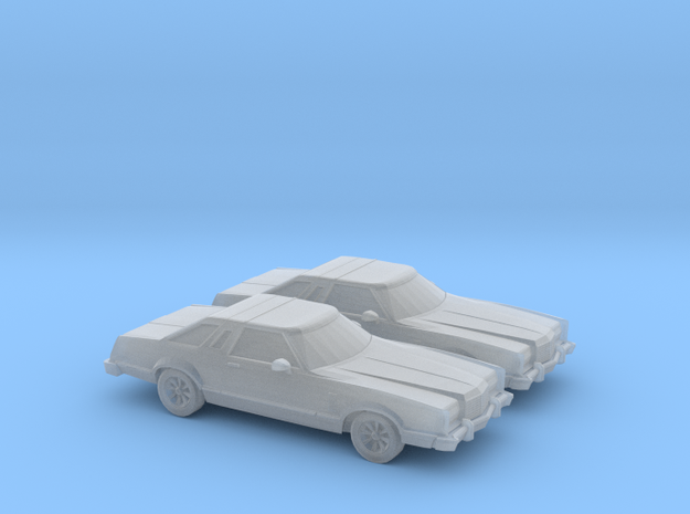 1/160 2X 1977 Ford Thunderbird in Smooth Fine Detail Plastic