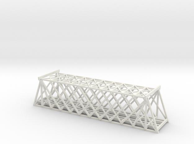 T SCALE DOUBLE TRACK TRUSS BRIDGE in White Natural Versatile Plastic