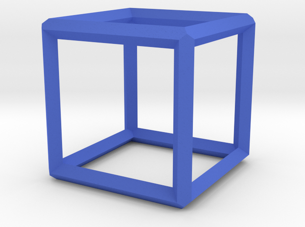 Cube(Leonardo-style model) in Blue Processed Versatile Plastic