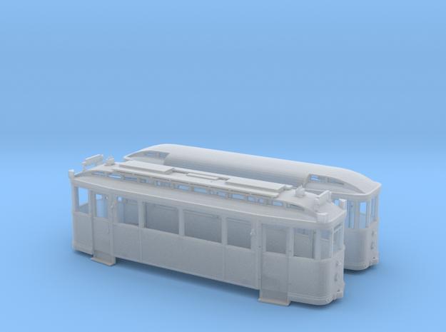 Tramzug der Lockwitztalbahn TW5/BW12 in Spur TTm ( 3d printed