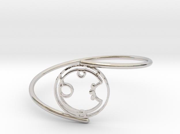 Aaron - Bracelet Thin Spiral in Rhodium Plated Brass