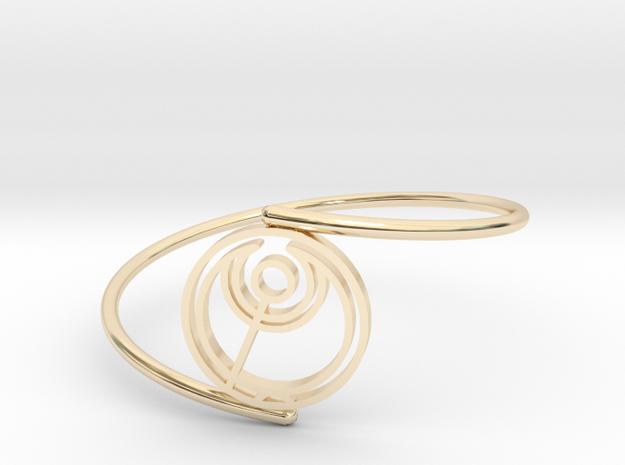 Abbi - Bracelet Thin Spiral in 14k Gold Plated Brass