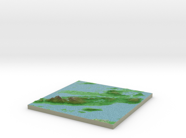 Terrafab generated model Thu Jun 04 2015 10:19:30  in Full Color Sandstone
