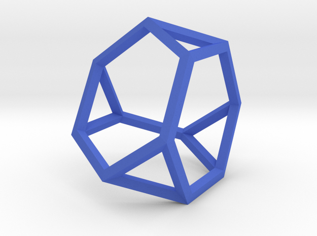 Truncated Tetrahedron(Leonardo-style model) in Blue Processed Versatile Plastic