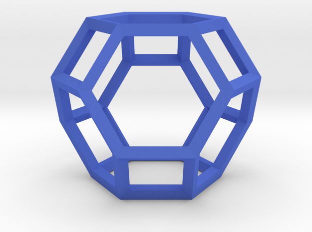 Truncated Octahedron(Leonardo-style model) in Blue Strong & Flexible Polished