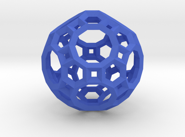 Truncated Icosidodecahedron(Leonardo-style model) in Blue Processed Versatile Plastic