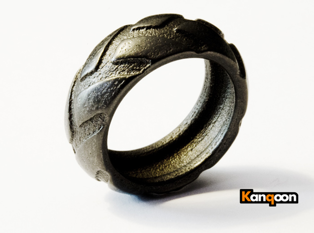 r8x45 - Ring- US 9 - 19 mm inside diameter 3d printed Matte Black Steel printed