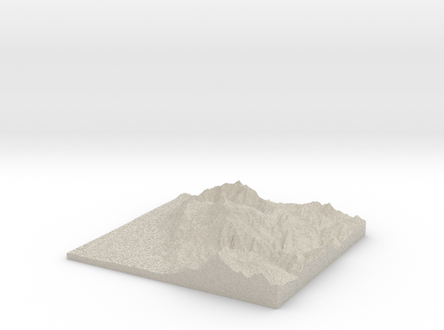 Model of Mt. Timpanogos Summit