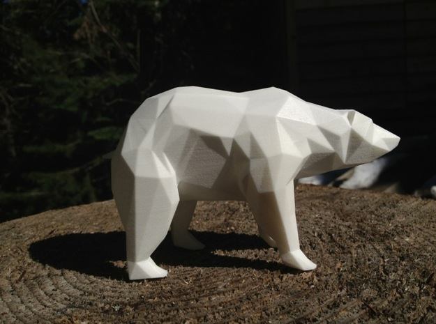 Stay Curious - Bear on all fours 3d printed