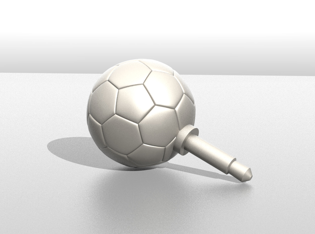 Soccer Ball Phone jack accessories in Blue Strong & Flexible Polished
