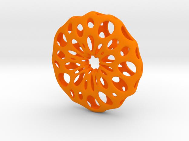 deSc Pendant Opus 1 in Orange Processed Versatile Plastic