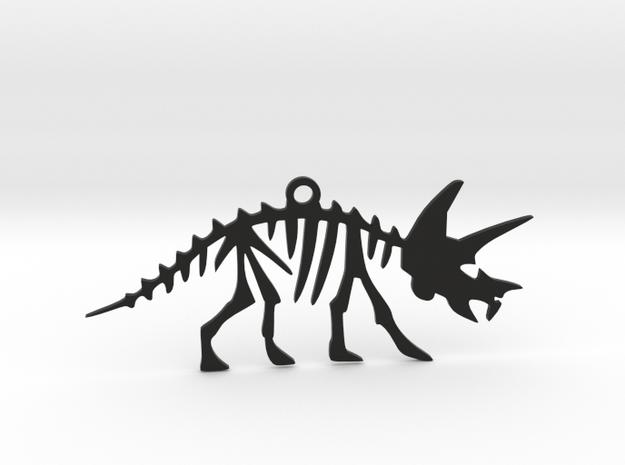 Dino Pendant in Black Natural Versatile Plastic