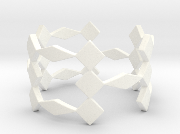 Triple H Ring Size 7.25 in White Processed Versatile Plastic