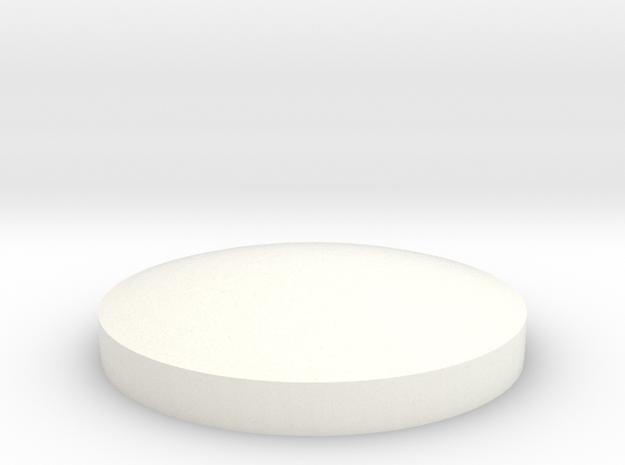Nut cover for custom front rim in White Processed Versatile Plastic
