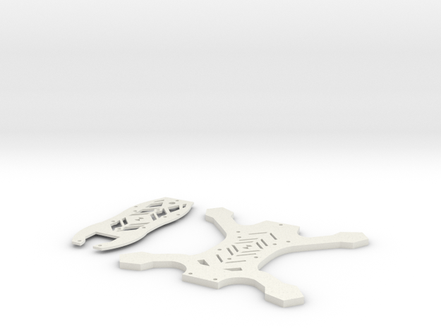 169mm FPV Quad V2 Slim (Aka: Tigiris) in White Strong & Flexible