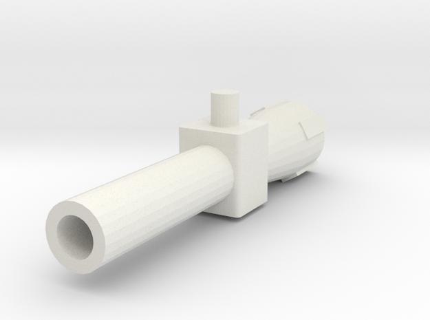 Hadies Gun in White Natural Versatile Plastic