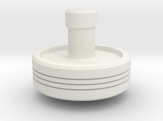 Spinning Top in White Natural Versatile Plastic