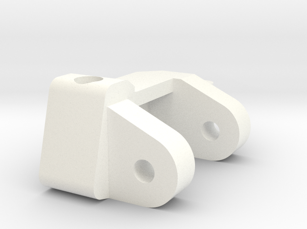 1/5 Scale Caster Block, LH in White Strong & Flexible Polished