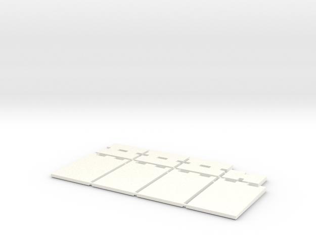1/87 HO Fahrsilo-Wandelemente 3,5m - 8 Tlg - in White Strong & Flexible Polished