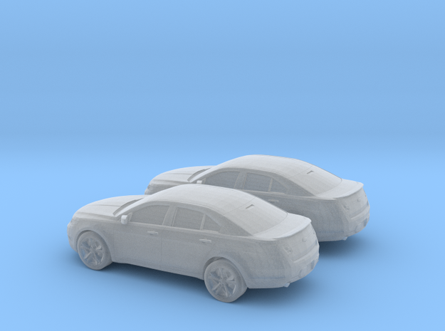 1/160 2X 2010 Ford Taurus SHO in Smooth Fine Detail Plastic