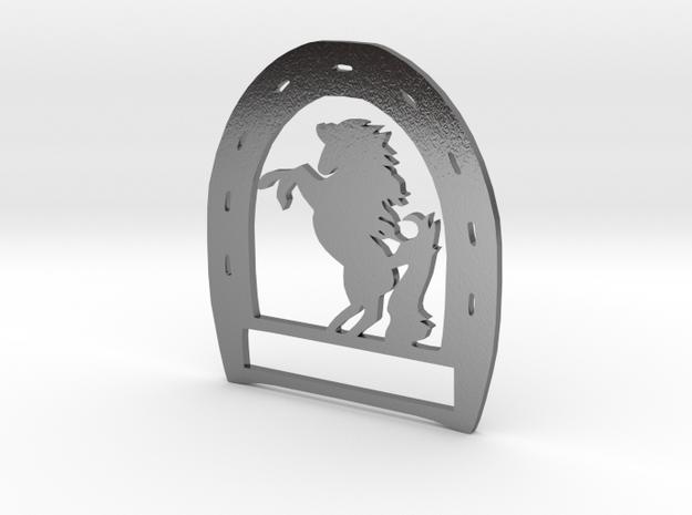 Horseshoe Pendant in Polished Silver