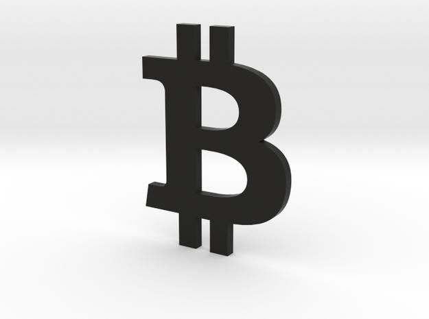 Bitcoin.stl in Black Natural Versatile Plastic