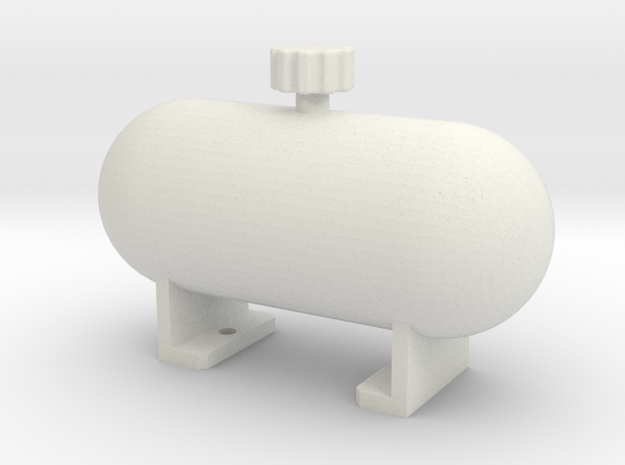 Fake fuel tank ''Rounded'' in White Strong & Flexible