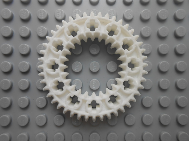 LEGO®-compatible z44 bevel gear w/ z24 inner ring