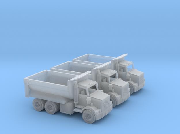 3 Dump Trucks Z Scale in Smooth Fine Detail Plastic