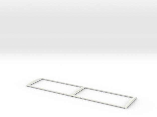 1/64 34' Silage Trailer Tarp Frame in White Natural Versatile Plastic