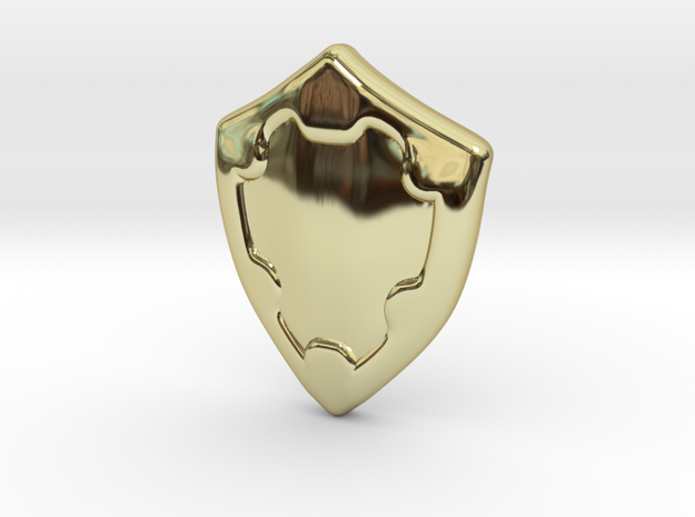 Shield in 18k Gold Plated Brass