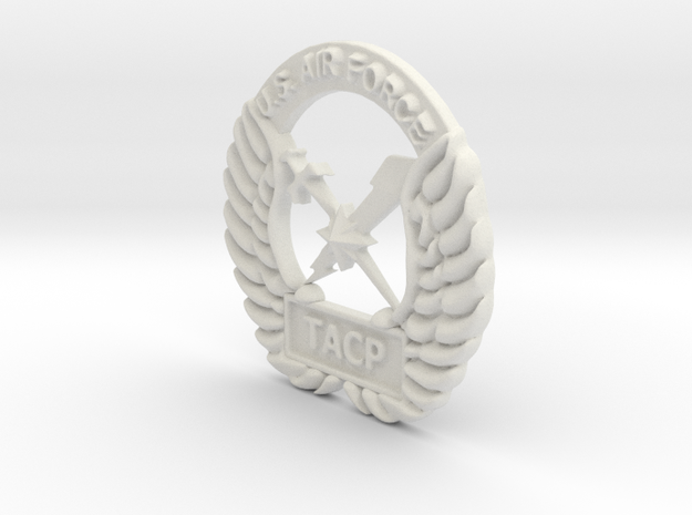4 inch Fat Tacp Crest in White Natural Versatile Plastic