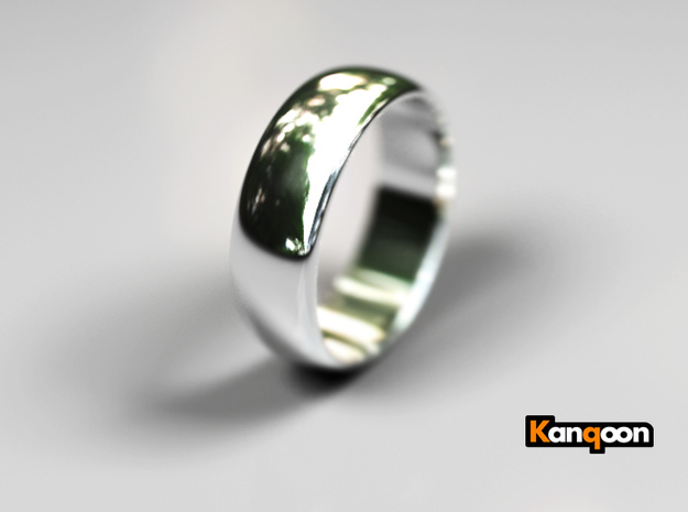Hugo - Ring 3d printed Polished SIlver preview