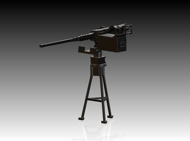 Single Modern 50 Cal Browning on Tripod 1/35 in Smooth Fine Detail Plastic