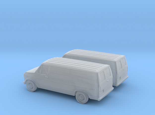 1/160 2X 1985 Ford Econoline in Frosted Ultra Detail