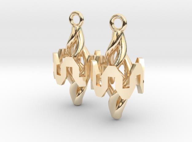 Resonator Earring Pair in 14k Gold Plated Brass