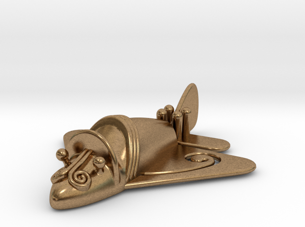 """Pre-Colombian """"airplane"""" in Raw Brass"""