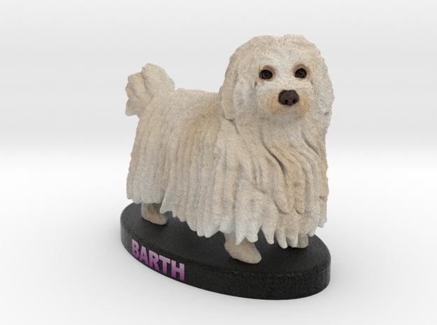Custom Dog Figurine - Barth in Full Color Sandstone