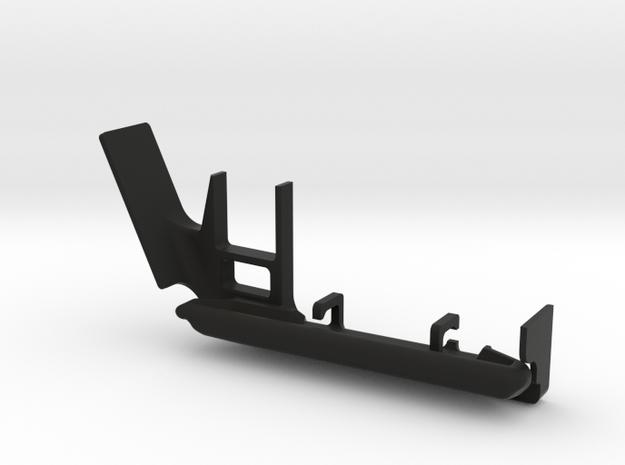 JeepTj Custom Kit-Skidplate With Battery Mount sx in Black Natural Versatile Plastic