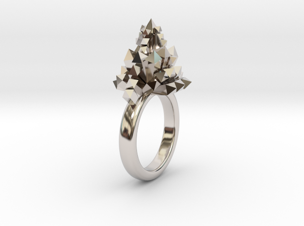 Crystal Ring 9.5 in Rhodium Plated