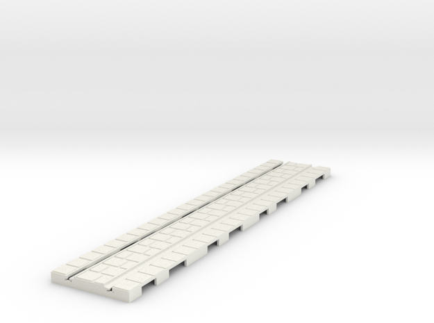 P-165stg-long-straight-tram-track-100-big-6a in White Natural Versatile Plastic