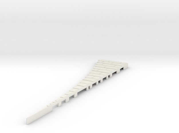 P-165stg-left-outside-wedge-big-1a in White Natural Versatile Plastic