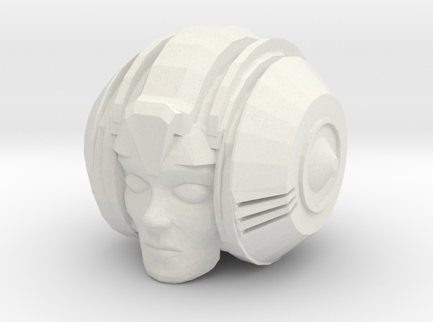 Prim-head 2 in White Natural Versatile Plastic