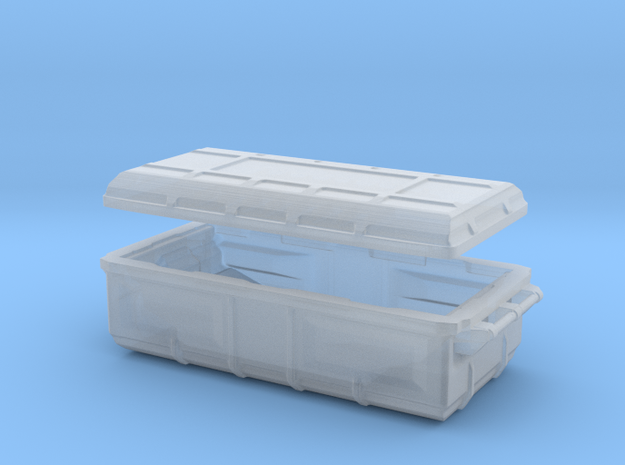 sci fi cargobox with lid in Smooth Fine Detail Plastic