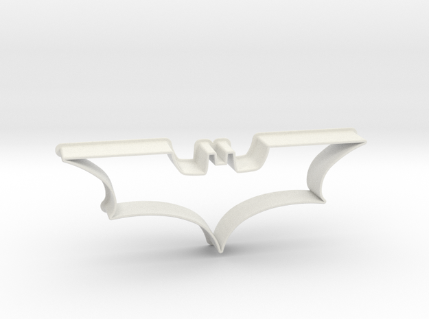 Batman 2008 - cookie cutter in White Strong & Flexible