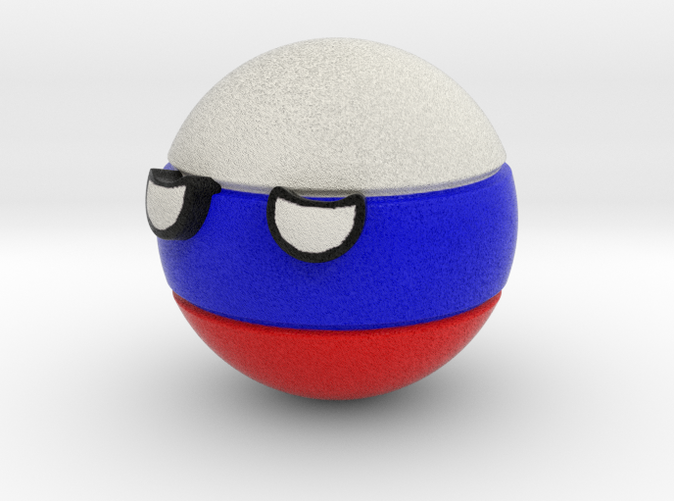 Countryballs Russia - Full Color Sandstone