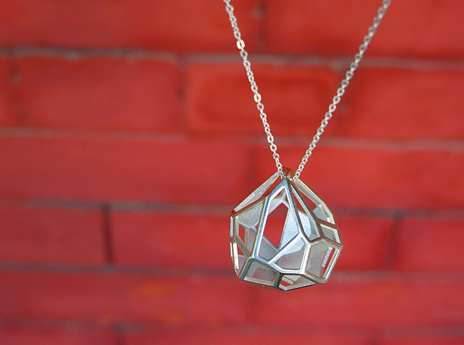 Pendant in Polished Sterling Silver Finish